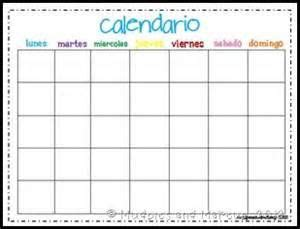 blank calendar template  spanish bing images