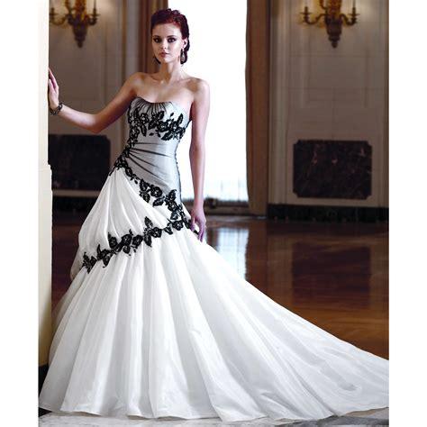 gown black white wedding dress wedding plan ideas