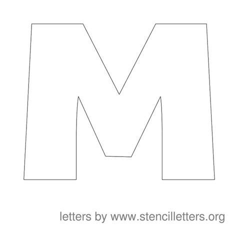 stencil letters  print  printable alphabet letter