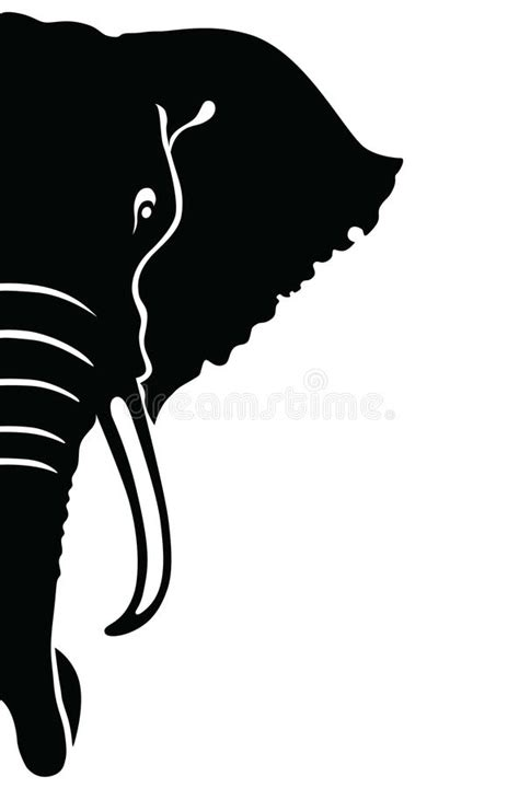 elephant head illustration stock vector illustration