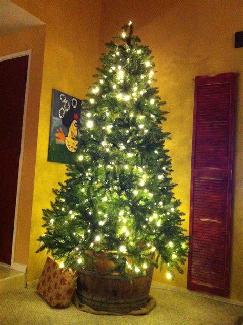 half wine barrel christmas tree stand cut bottom off of