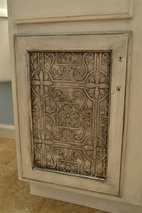 Glazed Cupboard Doors by Glazed Tin Tiles On Cupboard Doors Gorgeous House