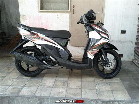 Modif Mio Soul by Modif Mio Soul Hitam Putih Modifikasi Motor Kawasaki