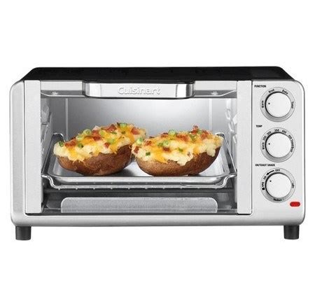 Compact Toaster Oven Reviews - cuisinart compact toaster oven broiler tob 80