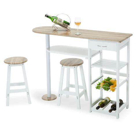 Oak White Kitchen Island Cart Trolley Dining Table Storage