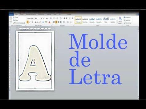 como fazer moldes de letra no word youtube
