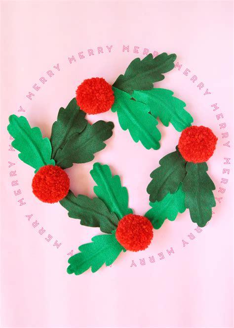 giant hollyberry diy diy felt wreath the house that lars built