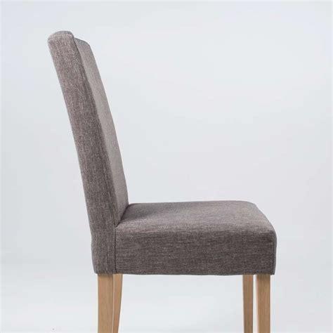 chaise tissu et bois chaise de salle à manger en tissu et bois massif gaby