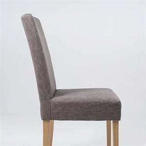 Tissu Pour Chaise : chaise de salle manger en tissu et bois massif gaby mobitec 4 pieds tables chaises et ~ Teatrodelosmanantiales.com Idées de Décoration