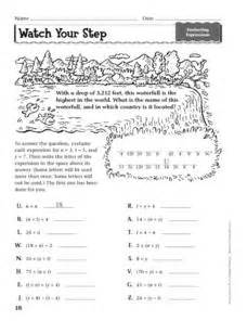 your step evaluating expressions worksheet for 6th