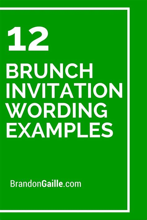 brunch invitation wording examples messages