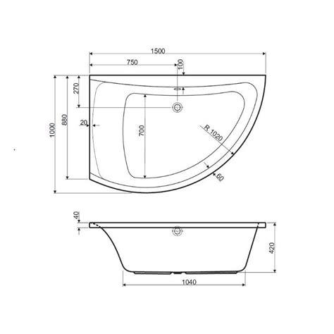 dimension baignoire standard dimensions baignoire