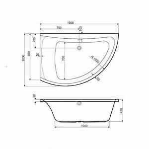 Baignoire Douche Dimension : baignoire d 39 angle asym trique versions droite et gauche ~ Premium-room.com Idées de Décoration