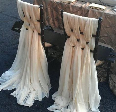 weaved chiffon chair covers chiffon chair sash by wedsource