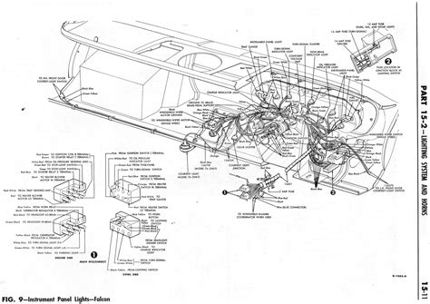 1964 ford falcon wiring diagram for instrument panel light 59541 circuit and wiring diagram