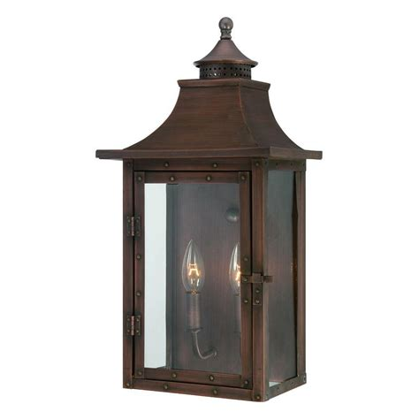copper exterior light fixtures acclaim lighting st charles collection wall mount 2 light