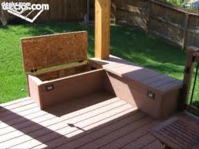 Building A Deck Bench by Building Built In Deck Benches Storage Area