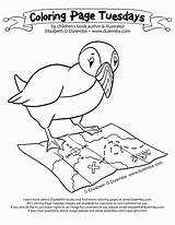 Coloring Puffin Pages Groundhog Comments sketch template