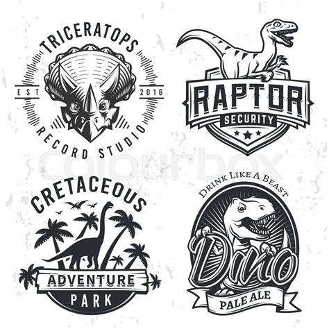 rexset  dino logos raptor  shirt illustration