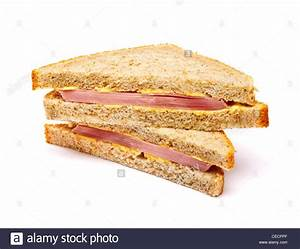Ham sandwich on white background Stock Photo: 43307223 - Alamy