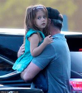 Mel Gibson dotes on daughter Lucia who wears a tiara for ...