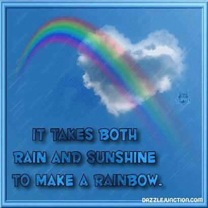 Quotes Sayings Rainbow Rain Rainbows Positive Takes