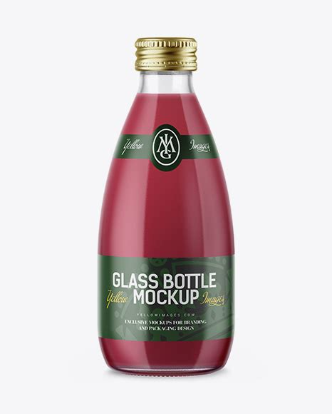 You can place the design in many different bottle and look the design in different perspective. Clear Glass Bottle With Berry Juice Mockup - Realistic ...