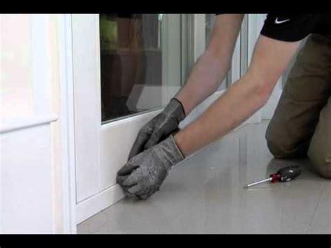 adjust sliding glass door rollers youtube