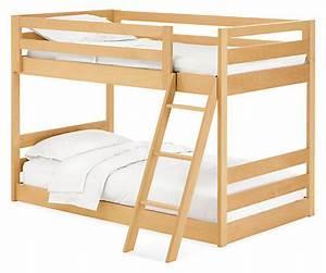 Waverly Kids39 Mini Wood Bunk Bed Modern Bunk Beds Loft