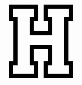 letter h coloring pages to download and print for free With big h letter