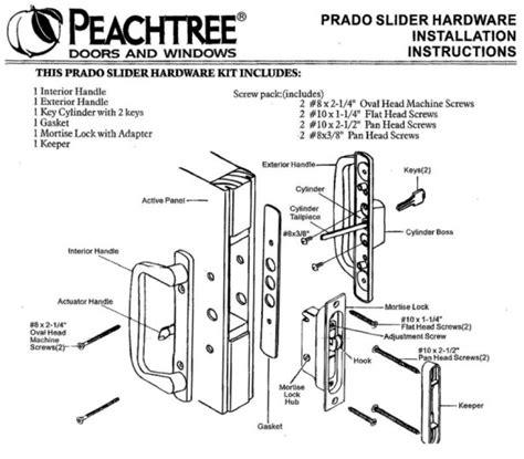 door hardware parts peachtree replacement hardware parts for doors windows