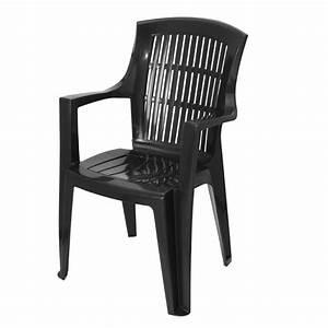 Chaise Et Fauteuil De Jardin : fauteuil de jardin empilable arpa noir chaise et fauteuil de jardin eminza ~ Teatrodelosmanantiales.com Idées de Décoration