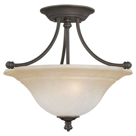 thomas lighting harmony  light aged bronze ceiling semi