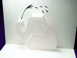 postcard kirigami elephant