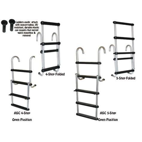 Boat Dock Ladder Parts by Removable Folding Pontoon Boat Ladder