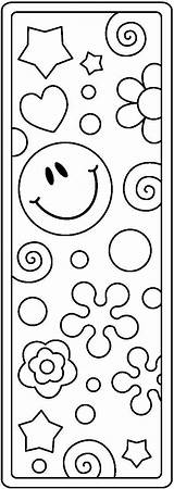 Coloring Printable Bookmarks Grammie Clipart Crochet sketch template