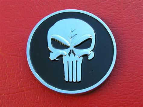 ~ Punisher Skull Car Emblem Chrome Metal Badge *new