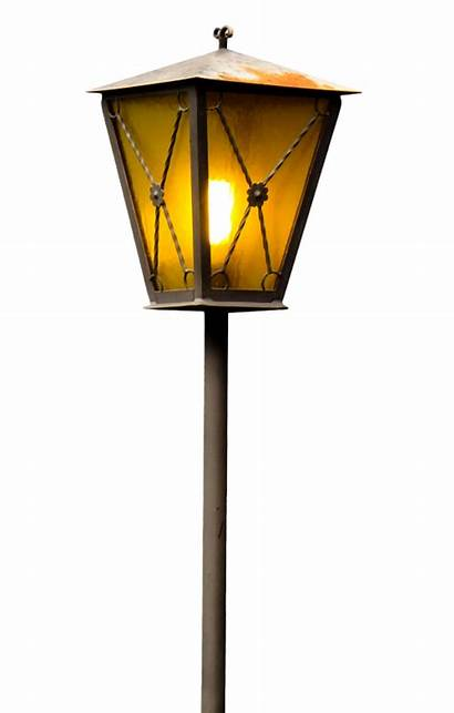 Lamp Transparent Street Clipart Lights Lantern Vector