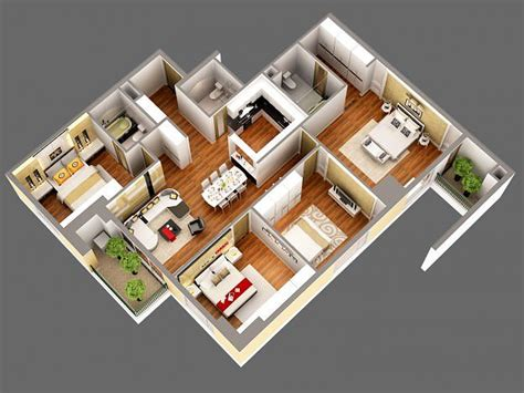 Home Interior 3d View : 3d Model Detailed House Cutaway View