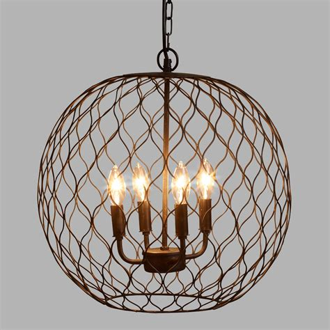 bronze globe farmhouse chandelier world market