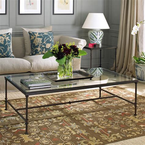 Glass And Wrought Iron Coffee Table In Kingswood, Bristol