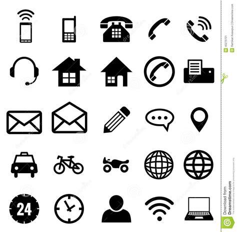 bureau des licences collection d 39 icône de contact pour des affaires