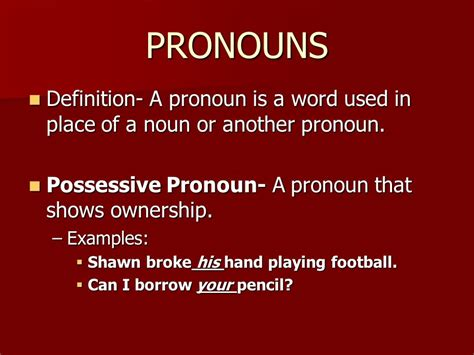 Chapter 1 Notes Section 1 Nouns Section 2 Pronouns Section 3 Verbs  Ppt Video Online Download