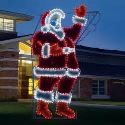 shop holiday lighting specialists 17 ft animated waving santa outdoor christmas decoration with