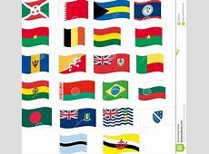 Flag Set Part 212 Letter B Stock Vector