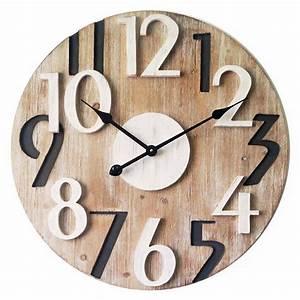 Horloge Murale Bois : horloges murales bois stickoo ~ Teatrodelosmanantiales.com Idées de Décoration