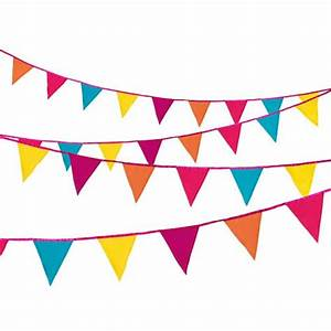 Bright Multi-Coloured Fabric Bunting - Confetti co uk