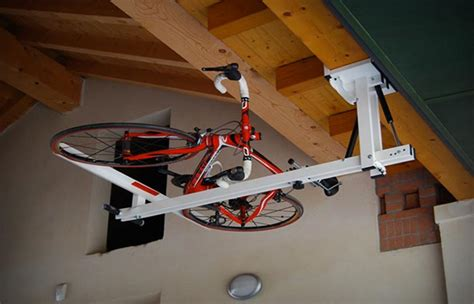 Electric Ceiling Mount Bike Lift by Flat Bike Lift Ceiling Bike Rack