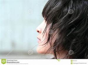 Chinese Girl Side And Curly Hair Stock Images - Image: 9041534