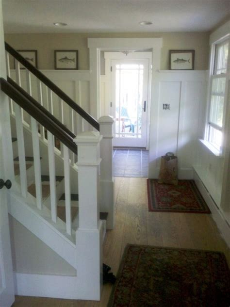 open   staircase  create  fabulous mudroom